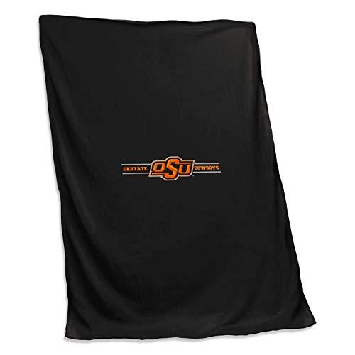 - Logo Oklahoma State Cowboys NCAA 54 X 84 Fleece Sweatshirt Blanket - Team Color,
