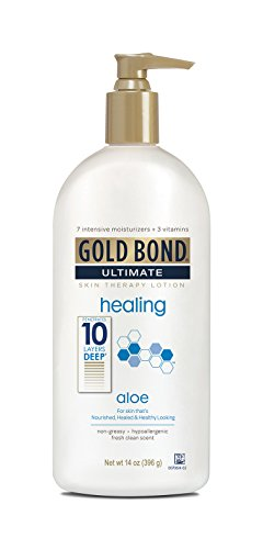 Gold Bond Ultimate Healing Skin Therapy Lotion for Dry Skin Aloe, 14 Ounce Body Lotion for Rough, Dry Skin with Aloe ()