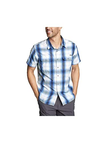 Eddie Bauer Men's Mountain Short-Sleeve Shirt, Island Blue Regular XXL ()