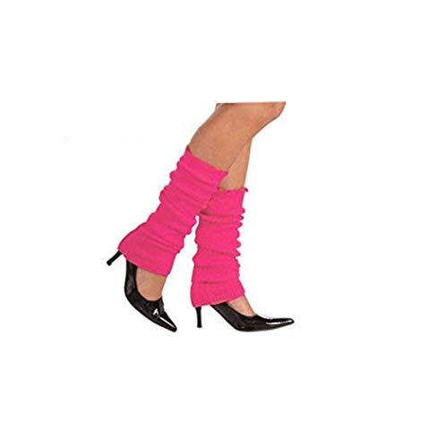 Neon Pink Leg Warmers (Forum Novelties Women's Neon Leg Warmers, Pink, One)