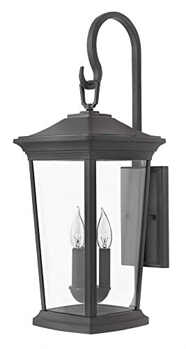 Hinkley 2366MB Bromley Outdoor Wall Sconce, 3-Light 180 Total Watts, Museum Black