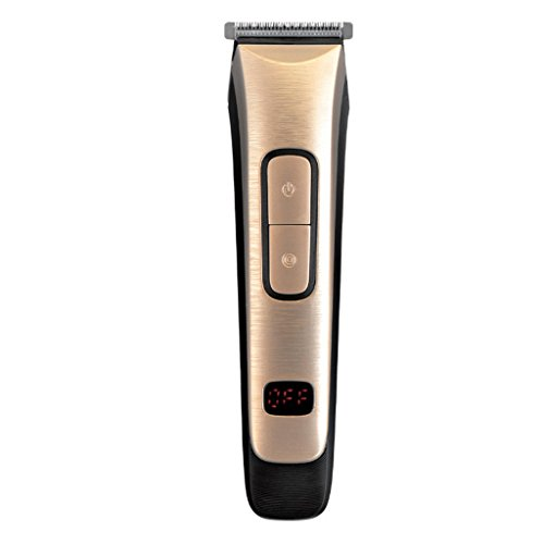 Professional household hair clipper rechargeable digital display electric trimmer with 4 comb