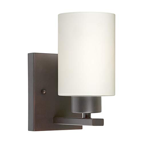 Indoor Wall Sconce Forte Lighting - Forte Lighting 5186-01-32 Signature 1 Light 5 inch Antique Bronze Wall Sconce Wall Light