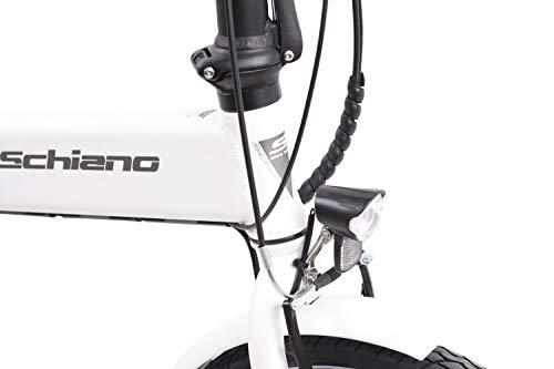 F.lli Schiano E- Sky, Bicicletta elettrica Pieghevole Unisex Adulto, Bianca, 20'' 7 spesavip