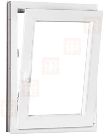 | wei/ß Dreh-Kipp-Fenster 90x110 cm Kunststofffenster 900x1100 mm rechts