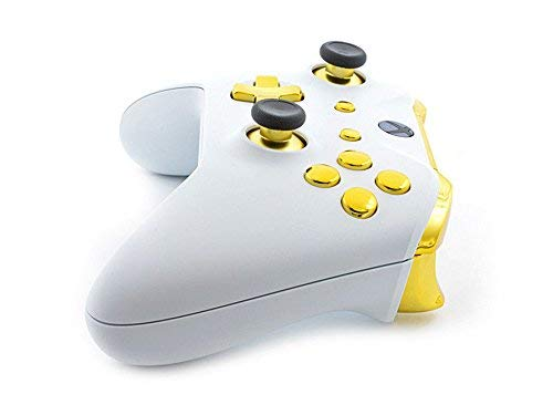 White/Gold Smart Rapid Fire Custom Modded Controller for Xbox One S Mods FPS Games and More. Control and Simply Adjust… 5