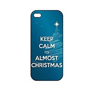 QYF Keep Calm It's Almost Christmas Pattern Plastic Hard Case for iPhone 5/5S