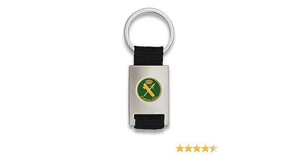 Tiendas LGP Albainox- Llavero Guardia Civil- Lona Negra y Acero Plateado Mate: Amazon.es: Equipaje