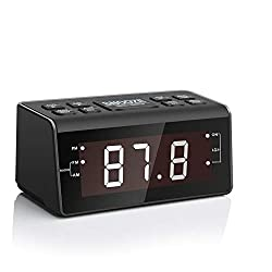 Alarm Clock Radio, Digital AM FM Dual Alarms Clocks Radio for Bedrooms