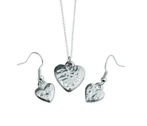10th Anniversary Pure Tin Pendant and Earring Set (Gift Anniversary Tin)