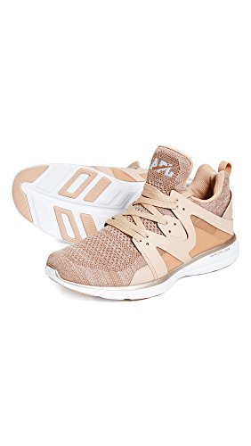 APL: Athletic Propulsion Labs Mens Techloom Ascend Training Sneakers Rose Gold/White pxAMLPEM1Y