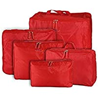 5-piece Travel Bag Organizer Set - Red