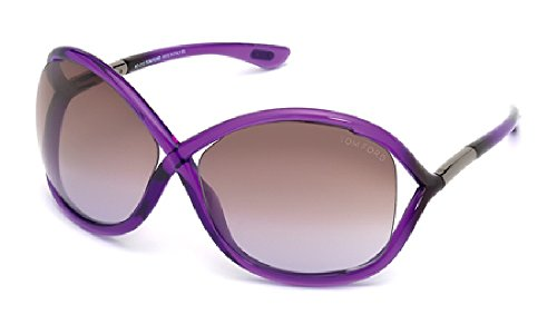 Tom Ford Sunglasses - Whitney / Frame: Crystal Purple Lens: Brown - Butterfly Sunglasses Ford Tom