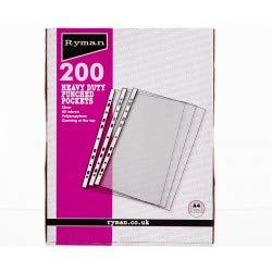 Ryman Premium tasche A4/confezione da 200/80/micron Trasparente