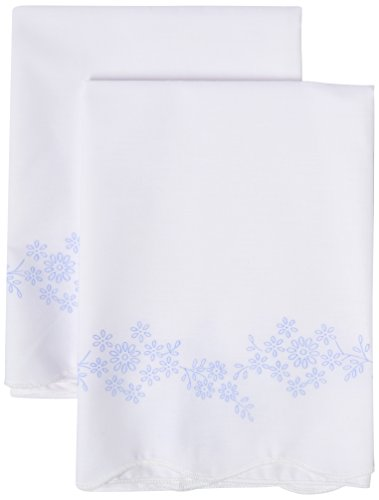 Embroidery Pillowcase Kits (Design Works Crafts T230040 Blue Daisies, 20
