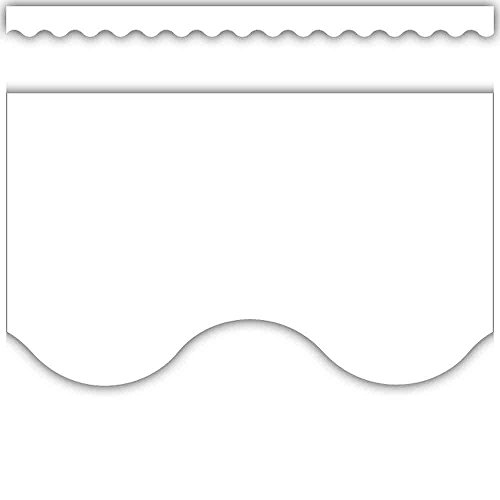 Teacher Created Resources White Scalloped Border Trim (5595)
