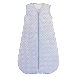 BABYINABAG Baby Sleeping Bag and Sack, Minky Dot, Quilted Winter Model, 2.5 Tog Very Warm for Infants and Toddlers