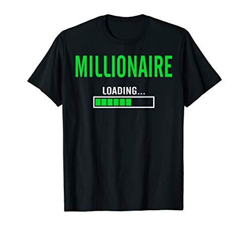 Funny Millionaire Loading Bar Short Sleeve T-shirt