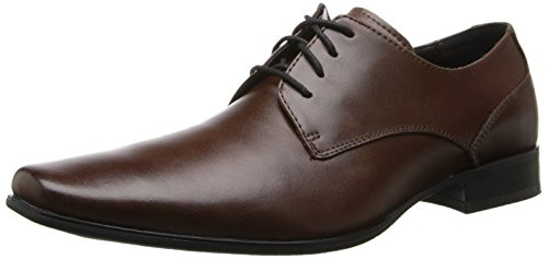 Calvin Klein Men's Brodie Oxford Shoe, Medium Brown Leather, 13 M US