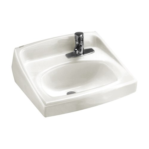 American Standard 0356.439.020 Lucerne Wall-Hung Lavatory with Single Faucet Hole on Right and Front Overflow, - American Lucerne Wall Standard