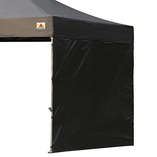 ABCCANOPY 15+Colors 10' Sun Wall for 10'x 10' Straight Leg pop up Canopy, 10' Sidewall kit (1 Panel) with Truss Straps (Black)
