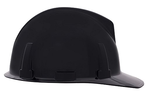 MSA 475386 Topgard Slotted Protective Cap with Fas-Trac Suspension, Standard, Black ()