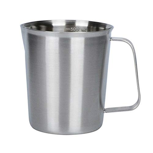 Orcbee  _Measurement 304 Stainless Steel Milk Frothing Pitcher Cup for Latte Coffee Art (500ML)