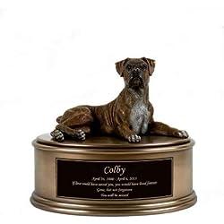 Perfect Memorials Custom Engraved Boxer Figurine Cremation Urn
