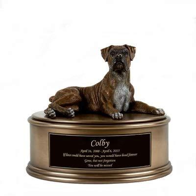 Perfect Memorials Custom Engraved Boxer Figurine Cremation Urn ()