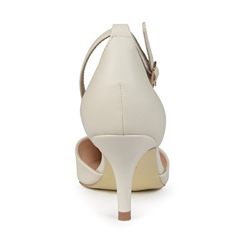 Journee Collectie Womens Matte Enkelbandje Pumps Ivoor