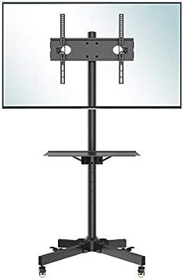 BONTEC Soporte TV Ruedas Mesa TV 23-55 Pulgadas Plasma/LCD/LED Soportes TV de Pie para Pantalla Plana Móvil Carro de Exhibición Trole, Máx. VESA 400x400 mm: Amazon.es: Electrónica