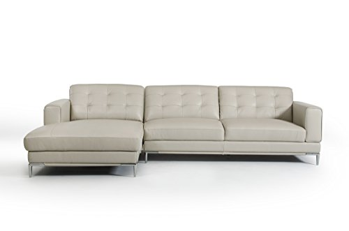Modern Leather Sectionals Sectional Sofas - Gray leather sectional sofas