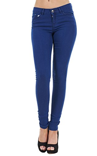 Store Skinny Ladies Blue Stretch Medium Collection Indigo Ex Fit Famous Elasticated Jeggings Woman's 5EXwqxU
