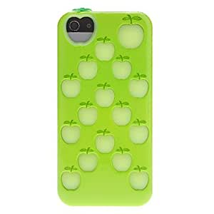 Colorful Apple Pattern Hybrid Case with Inner Silicone Cover for iPhone 5/5S (Assorted Colors) , Black