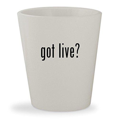 got live? - White Ceramic 1.5oz Shot - Glasses Lively Blake