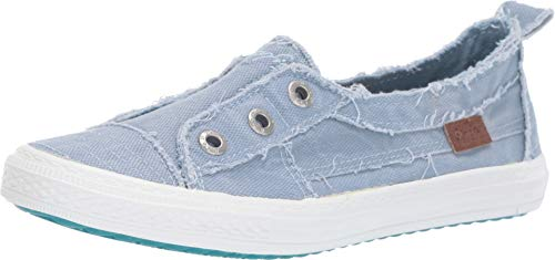 Blowfish Women's Aussie Baby Blue Smoked Canvas 10 M US ()