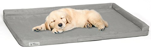 (PetFusion Puppy Choice Dog Crate Bed 36 inch with Waterproof Solid Foam Liner & Removable Washable Cover (35 x 22). Comfortable Microsuede Cover)