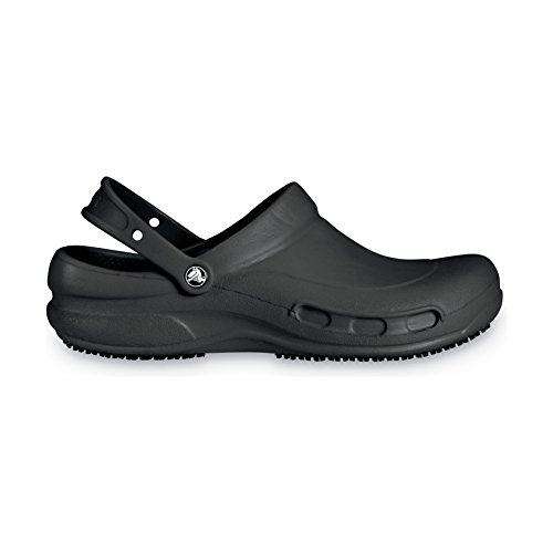 Slip Athletic Clogs (Crocs Unisex Bistro 10075 Work Clogs (6 US) (Black))