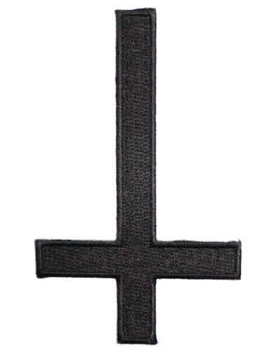 Inverted Cross Satanic Black Metal Logo Shirt jacket Patch Sew Iron on Embroidered Sign Badge Approx: 2inch By MNC - Shop Satanic