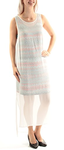 kensie Women's Printed Crepe Chiffon Dress, Dove Combo, ()