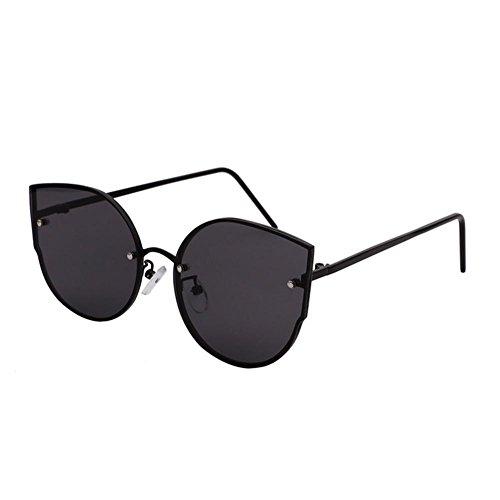 de Ojo personalidad frame Black sol mercury retro Alger redonda gafas de gato white mujer gran de silver marco cara gafas YBdBw17gq