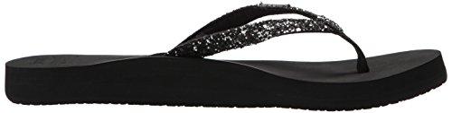Donna Kgu black Reef Star Multicolore Cushion gunmetal Infradito Black gunmet wXzwv