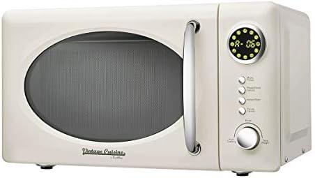 Forno a Microonde 700W 18.5L Vintage Cuisine by CooKing – 12 programmi auto/5 livelli di potenza (Cream)