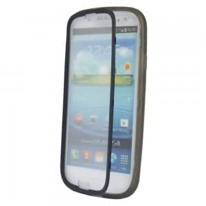 TPU Protective Case with PC Front Cover for Samsung i9300 Transparent Black