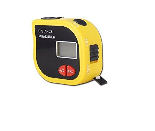 Nex Co Ultrasonic Distance Measurer  Mini Handheld Range Finder Laser Point Measurement Tool With Color Backlit Display Inch Fractions Millimeter Conversion