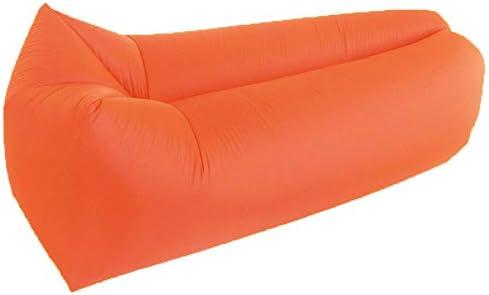 KQBAM Aufblasbarer Sessel, Quadratische Kopf Luft Sofa Hängematte Mit Kopfstütze, Wasserdicht Und Dicht, Komfortabel Aufblasbares Sofa Für Pool Und Strand-Party,Gelb