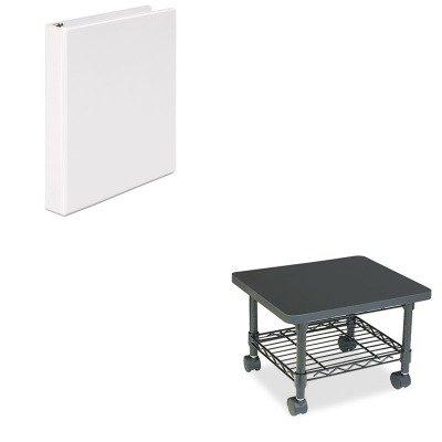 (KITSAF5206BLUNV20962 - Value Kit - Safco Underdesk Printer/Fax Stand (SAF5206BL) and Universal Round Ring Economy Vinyl View Binder (UNV20962))