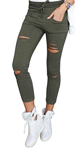 Live It Style It Damen dehnbar verblichen gerippt Enge Passform Skinny Jeggings Jeanshose Damen-Hosen