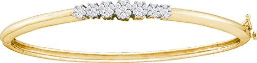 1 Total Carat Weight DIAMOND INVISIBLE BANGLE by Jawa Fashion