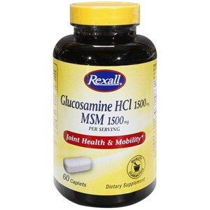 Rexall glucosamine HCL 1500 mg MSM 1500mg 60 Ct